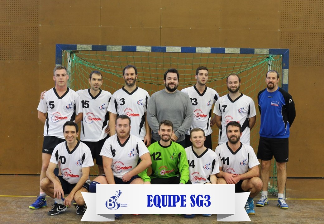 Photo Equipe SG3 2017-2018