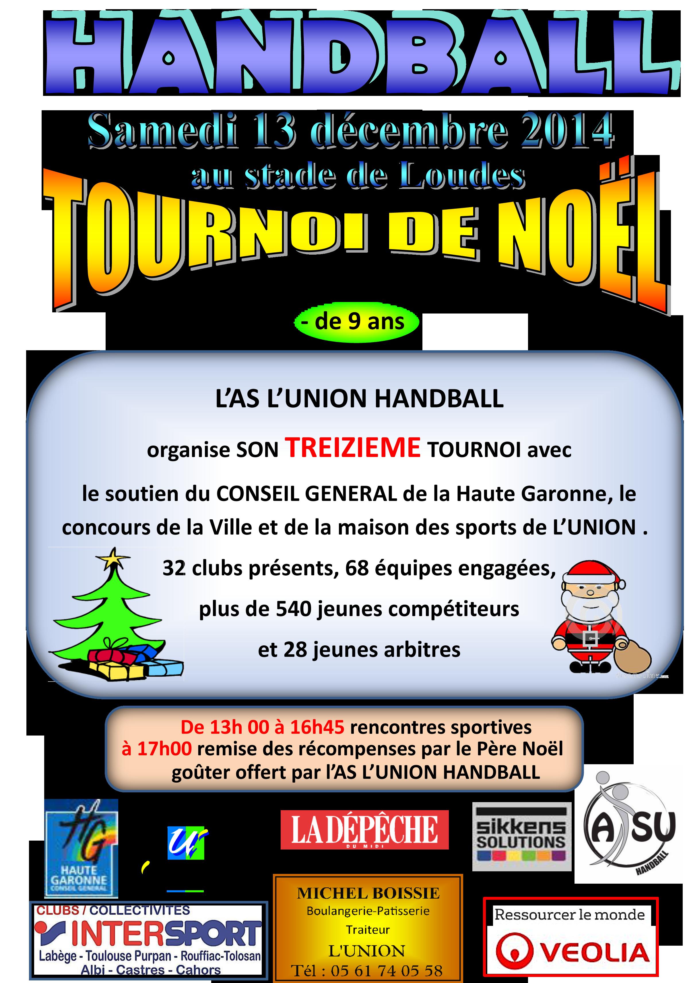 Affiche tournoi de noel 2014