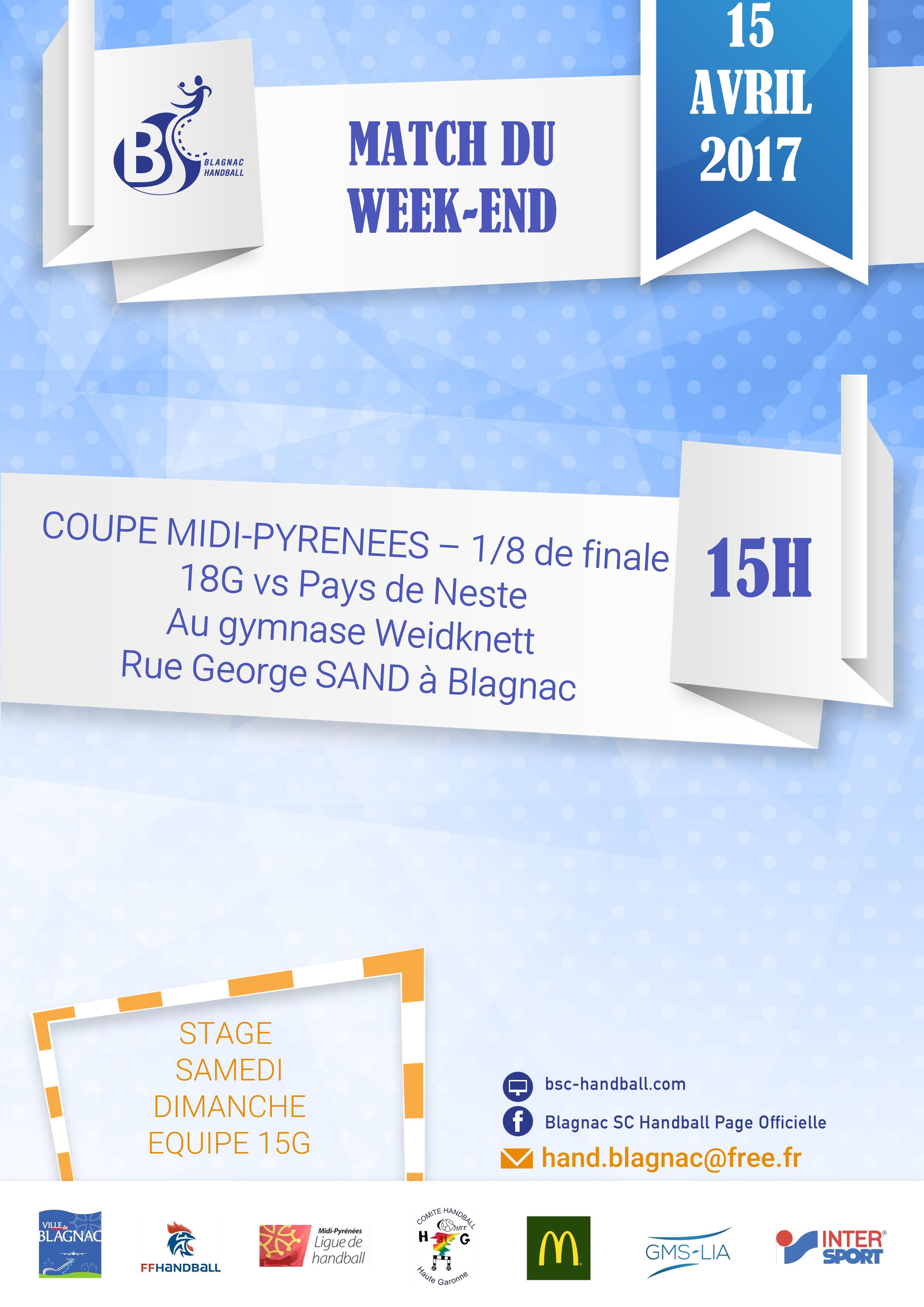 Match week end 15-04-17