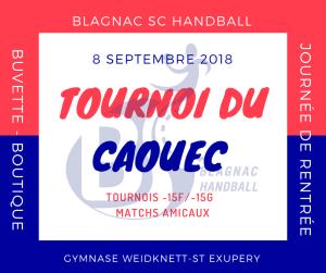 TOURNOI DU CAOUEC @ Gymnase Weidknett- St Exupéry | Blagnac | Occitanie | France